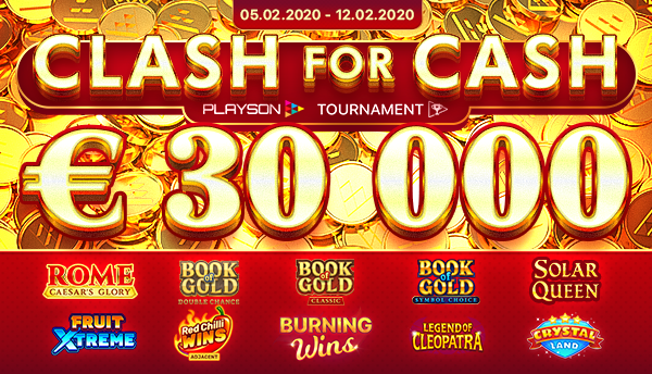 Playson-Clash-for-Cash - €30.000 Winter tournament