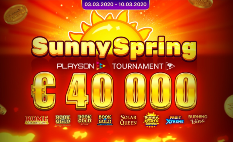 Sunny Spring €40K slots tournament by Playson