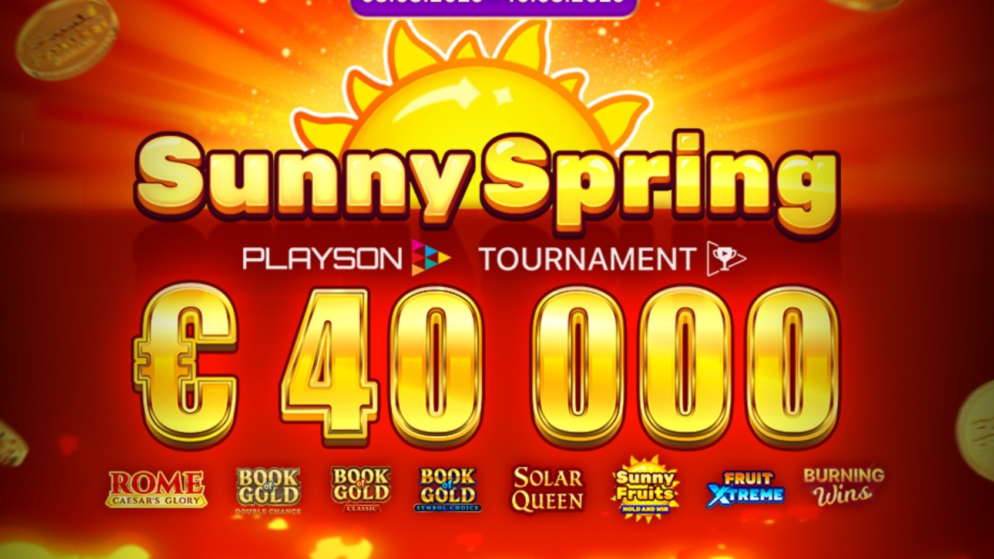 Sunny Spring Slot tournament (Playson) €40K guaranteed!