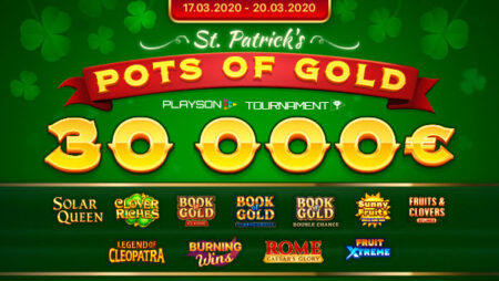 St. Patrick's Pots of Gold (Playson) Slot Tournament