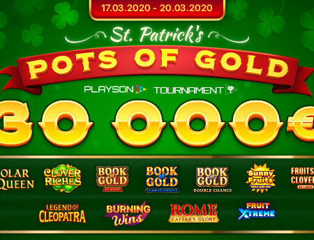 St. Patrick's Pots of Gold (Playson) Slot Tournament