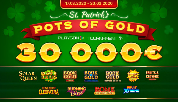 Playson - St. Patrick's Pots of Gold Slot Tournament